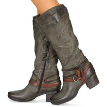 Load image into Gallery viewer, Women Winter Vintage Zipper Knee-High Boots