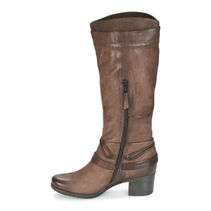 Women Winter Vintage Zipper Knee-High Boots