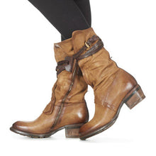 Load image into Gallery viewer, Women Winter Vintage Slip-On Zipper Buckle Boots