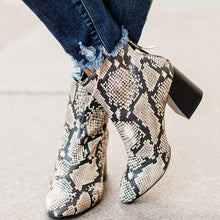 Load image into Gallery viewer, Elegant Back Zipper High Heel Ankle Boots