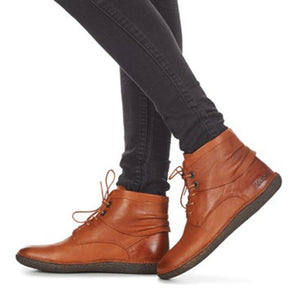 Women Winter Vintage Lace-up Ankle Boots