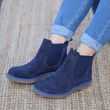 Load image into Gallery viewer, Artificial Suede Slip-On Artificial Suede Womens Ankle Boots