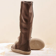 Load image into Gallery viewer, Women Winter Slip-On Suede Knee-High Boots