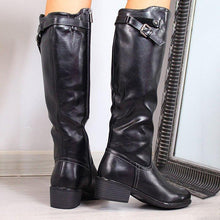Load image into Gallery viewer, All Season Side Zipper Chunky Heel Boots