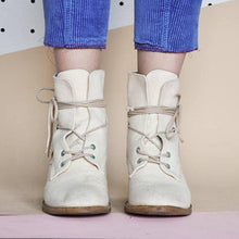 Load image into Gallery viewer, Chunky Heel  Lace-Up All Season Ankle Boots