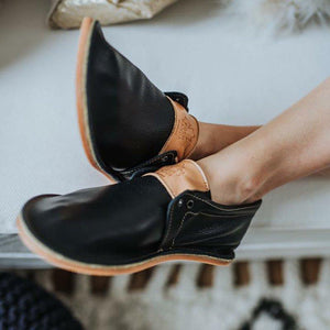 Soft Comfy Sole Slip On Faux Leather Flats