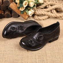 Load image into Gallery viewer, Slip-On Flower Loafers Womens Elegant Handmade Shoes