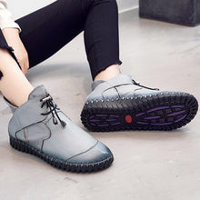 Load image into Gallery viewer, Padded Boots Winter Warm Snow Boots Flat Short Womens Boots