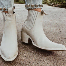 Load image into Gallery viewer, Women Block Heel Pointed Toe Chelsea Boots Slip-On Ankle Booties