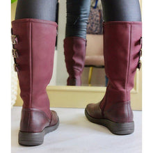 Load image into Gallery viewer, Round Toe Mid-Calf Artificial Leather Boots Womens Casual Boots