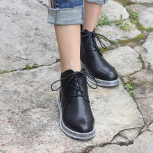 Load image into Gallery viewer, Simple Style Lace-up Round Toe All Season Ankle Boots
