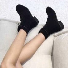 Load image into Gallery viewer, Lace-up Chunky Heel All Season Suede Boots