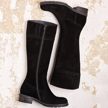 Load image into Gallery viewer, Women Winter Suede  Zipper Knee-High Boots