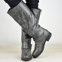 Load image into Gallery viewer, Womens Knee-High Low Heel Round Toe Riding Boots