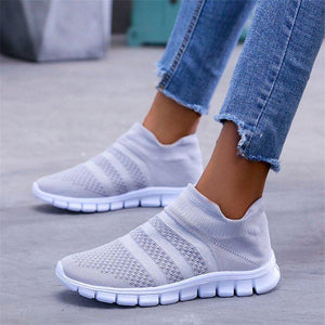 Slip-On Mesh Sneakers Autumn Comfortable Womens Sneakers