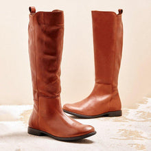 Load image into Gallery viewer, Women Winter Slip-On Zipper Knee-High Boots