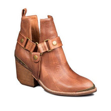 Load image into Gallery viewer, Buckle Artificial Leather Chunky Heel All Season Boots