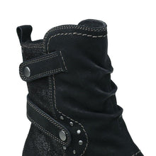 Load image into Gallery viewer, Side Zipper Chunky Heel Spring And Fall Ankle Boots