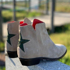 Star Chunky Heel Ankle Short Boots All Season Casual Boots