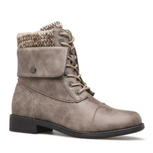 Load image into Gallery viewer, Women Winter Lace-Up Sweater Knit Ankle Boots