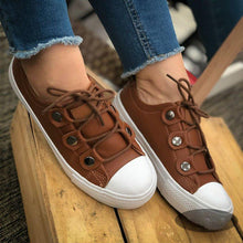 Load image into Gallery viewer, Cute Athletic Style Lace Up Flat Sneakers