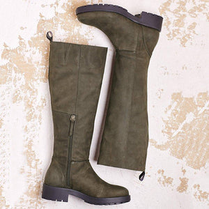 Women Winter Artificial Leather Knee-High Boots