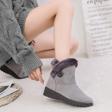 Load image into Gallery viewer, Simple Warm  Slip-on Wedge Heel Snow Boots