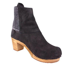 Load image into Gallery viewer, Slip-On Elastic Band Suede Clog Heel Ankle Boots