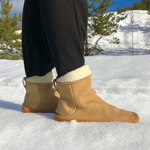 Simple Warm Slip On Suede Snow Boots