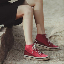 Load image into Gallery viewer, Lace-Up Fashion All Season Canvas Hi-Top Sneakers Casual Shoes