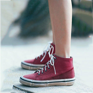 Lace-Up Fashion All Season Canvas Hi-Top Sneakers Casual Shoes