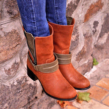 Load image into Gallery viewer, Autumn Fashion Decorative Zipper Chunky Heel Ankle Boots