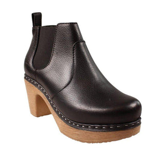 Classic Slip On Block Heel All Season Ankle Boots