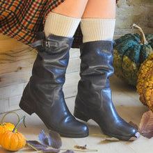 Load image into Gallery viewer, Vintage Adjustable Buckle Round Toe Mid-Calf Boots Plus SIzes