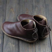 Load image into Gallery viewer, Women Lace-Up Soft Leather Booties