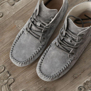 Flat Heel Casual Artificial Leather Lace-Up Comfortable Boots