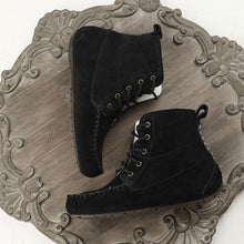 Load image into Gallery viewer, Flat Heel Casual Artificial Leather Lace-Up Comfortable Boots