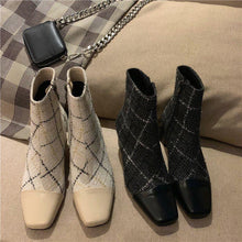 Load image into Gallery viewer, Zipper Chunky Heel Genuine Leather Boots