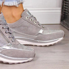 Load image into Gallery viewer, Gray All Season Faux Leather Sneakers
