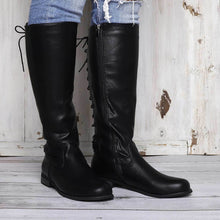 Load image into Gallery viewer, Womens Zipper Chunky Heel Artificial Suede Knee Boots
