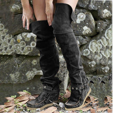 Load image into Gallery viewer, Adjustable Buckle Flat Heel Boots Over The Knee Casual Boots
