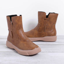 Load image into Gallery viewer, Women's  Low Heel Vintage Round Toe Boots