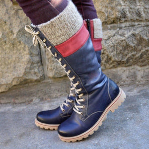 Women's casual lace-up boots