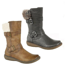 Load image into Gallery viewer, Winter Split Joint Flat Heel Daily Long Boots