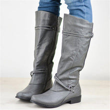 Load image into Gallery viewer, Women Casual Fall Low Heel Zipper Comfy Mid-Calf Boots