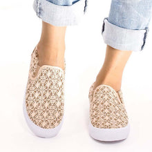 Load image into Gallery viewer, Women Round Toe Slide Flat Heel Sequin Casual Loafers