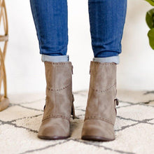 Load image into Gallery viewer, Women Round Toe Zipper Winter Casual Chunky Heel Ankle Boots