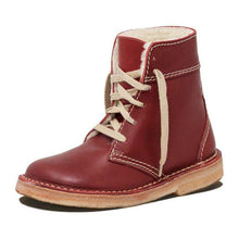 Load image into Gallery viewer, Women Round Toe Lace-Up Snow Boots Pu Casual Winter Low Heel Shoes