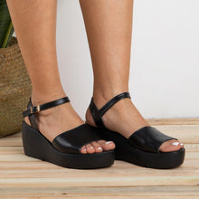 Load image into Gallery viewer, New Women's Peep Toe Wedges Adjustable Buckle Plus Size Sandals
