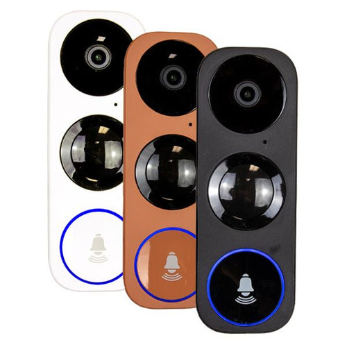 3MP Wifi Video Doorbell Camera W/ 2 Way Audio | PIR Motion Sensor | Night Vision | 16GB SD Card Pre-Installed | Includes 3 Face Plates